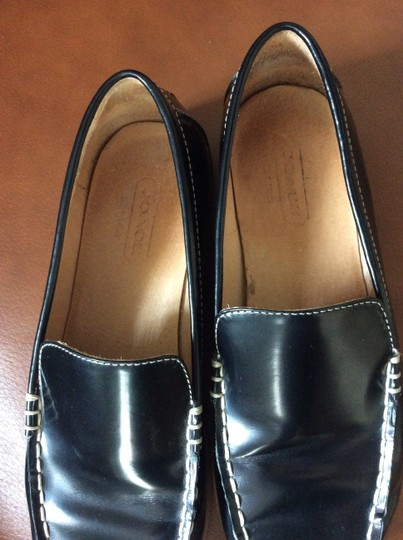 Coach Leather Loafers Comfortable Black Flats