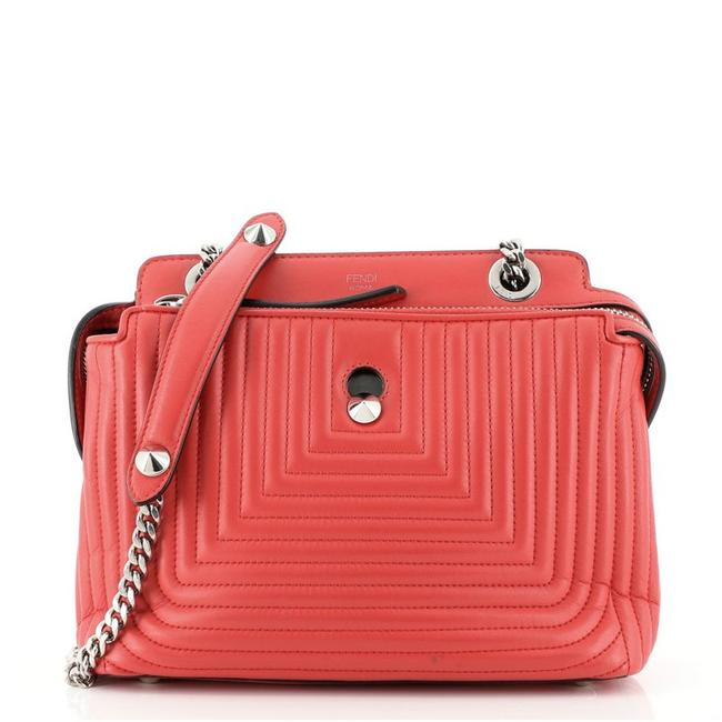 Item - Dotcom Click Quilted Small Red Leather Shoulder Bag