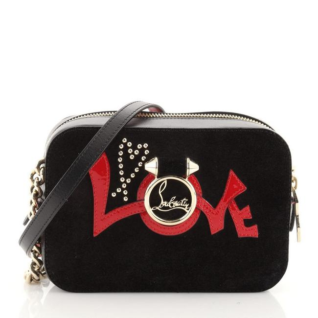 Item - Rubylou Love and Mini Black Leather Suede Cross Body Bag