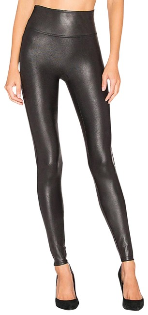 Item - Black Faux Leather Small Leggings Size 6 (S, 28)