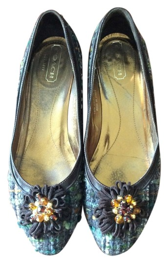 Preload https://item2.tradesy.com/images/coach-browngreen-multi-applique-woven-beading-flats-size-us-75-2936491-0-0.jpg?width=440&height=440