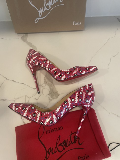 Christian Louboutin Multicolor Pigalle Follies 100 Patent Leather Ginzana Pumps Size EU 38 (Approx. US 8) Regular (M, B) Christian Louboutin Multicolor Pigalle Follies 100 Patent Leather Ginzana Pumps Size EU 38 (Approx. US 8) Regular (M, B) Image 7