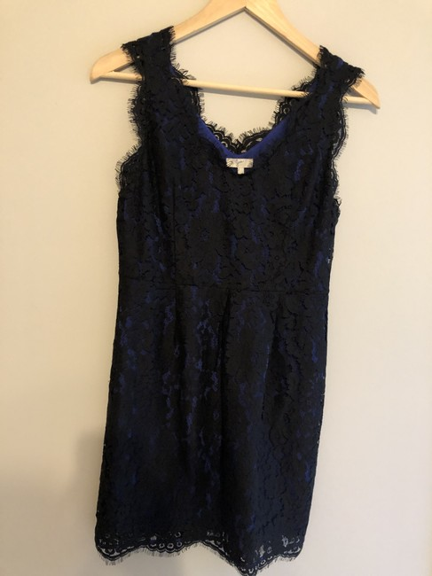 Item - Black/Blue Mid-length Night Out Dress Size 4 (S)