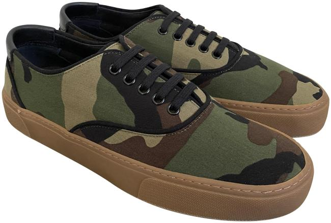 Item - Green Venice Camouflage Camo Canvas Low Top Sneakers Size EU 42 (Approx. US 12) Regular (M, B)