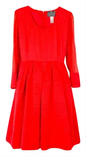 Item - Red No Mid-length Cocktail Dress Size 6 (S)