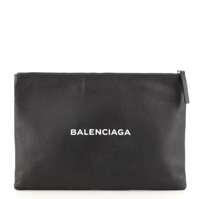 Item - Everyday Logo Pouch Printed Large Black Leather Clutch