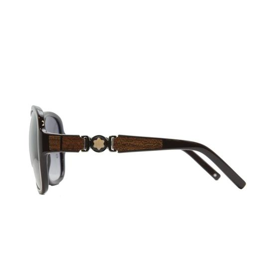 Montblanc Mont Blanc Brown Oversized Sunglasses
