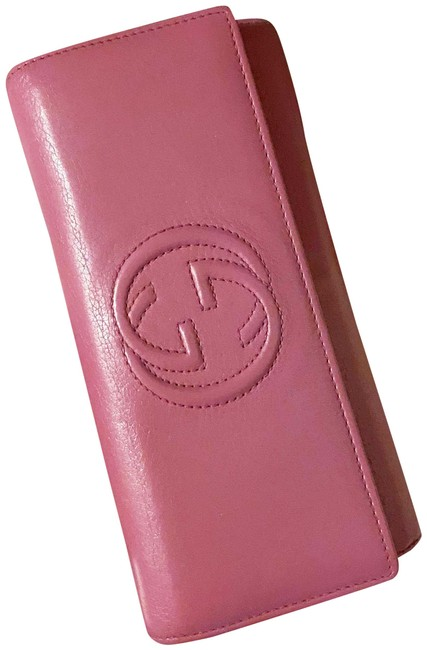 Item - Fuchsia Pink Clutch Soho Smooth Leather Gg Continental / Wallet