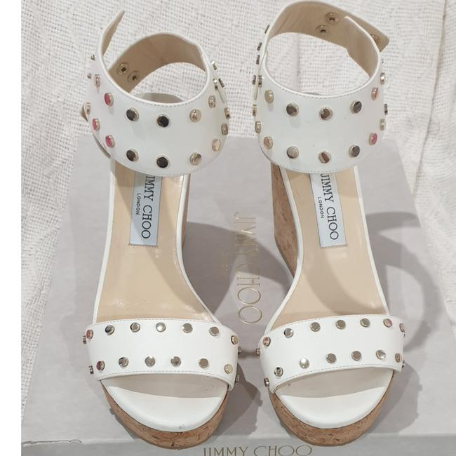 Item - White Nelly Wedges Size EU 40 (Approx. US 10) Regular (M, B)