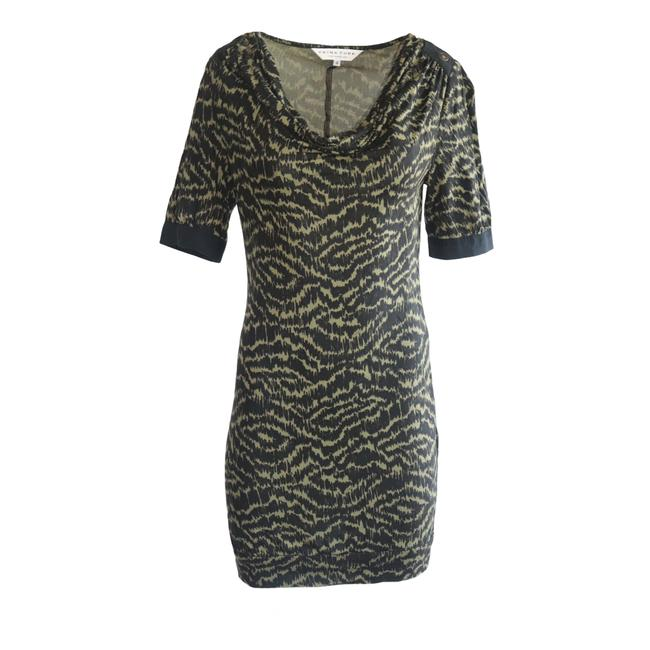 Item - Green Cowl Neck Mid-length Short Casual Dress Size 4 (S)