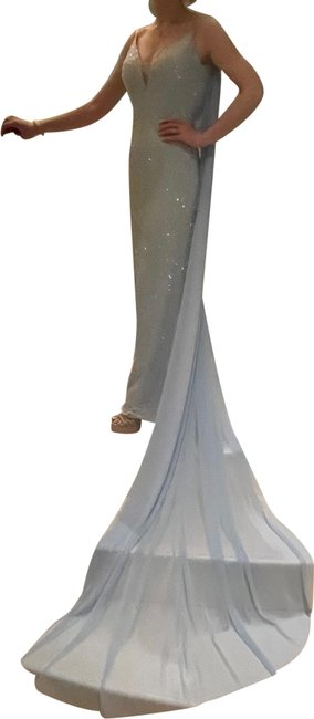 Item - Ice Blue Unknown Long Formal Dress Size 0 (XS)