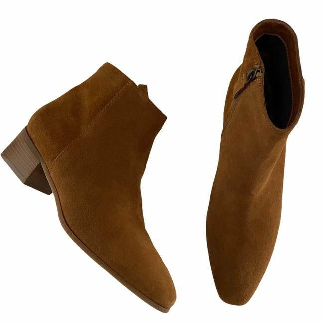 Item - Tan Fuoco Suede Chunky Heel Ankle Boots/Booties Size US 11 Regular (M, B)