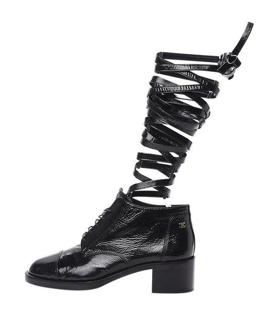 Item - Black G33610 Lace Up Patent Leather Ankle Boots (195519) Sneakers Size EU 37 (Approx. US 7) Narrow (Aa, N)