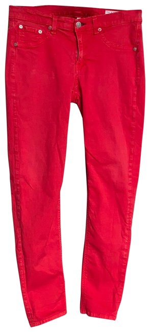 Item - Red Capri/Cropped Jeans Size 8 (M, 29, 30)