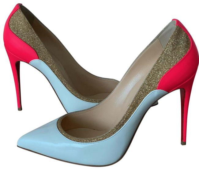 Item - Pink/White/Glitter Patent Fluo Tucsick - White/Pink/Gold Pumps Size EU 40 (Approx. US 10) Narrow (Aa, N)