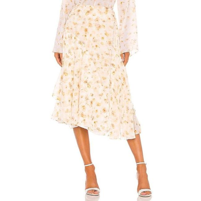 Item - White Pressed Petal In Off Skirt Size 8 (M, 29, 30)