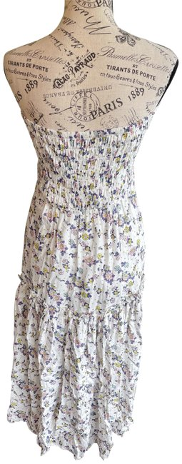 Item - White Floral Two Way Long Casual Maxi Dress Size 2 (XS)