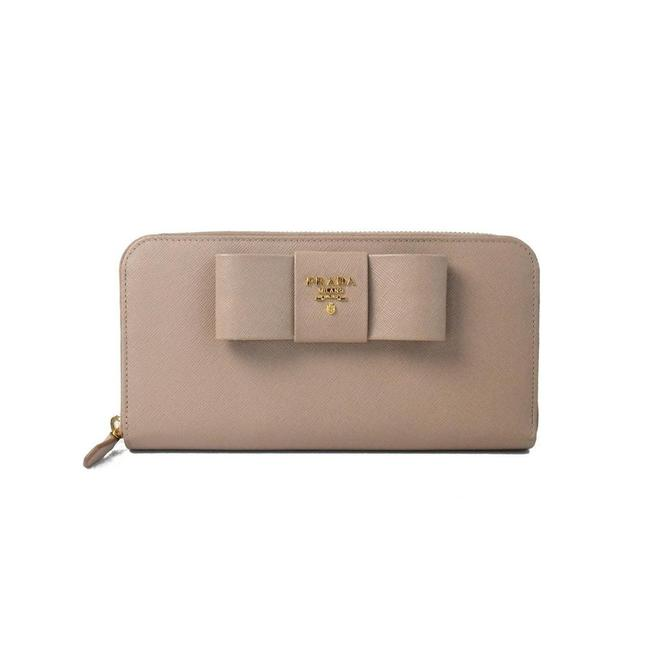 Item - With Ribbon Black Nude Leather Clutch