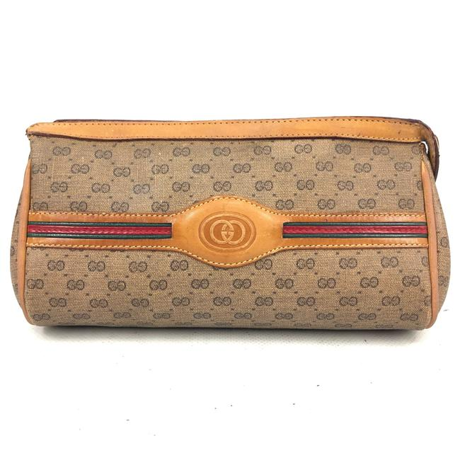 Item - Beige Gg ssima Canvas / Leather Pouch / Cosmetic Bag
