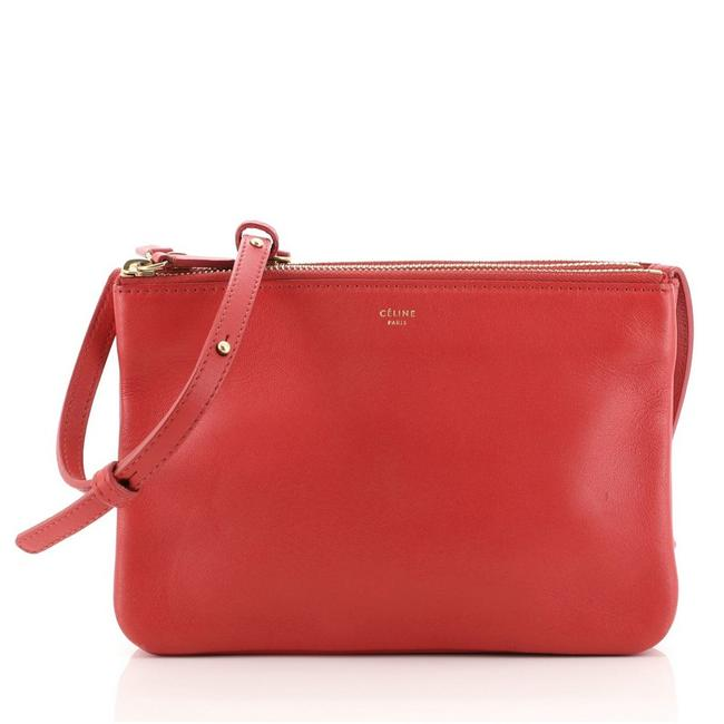 Item - Trio Small Red Leather Cross Body Bag