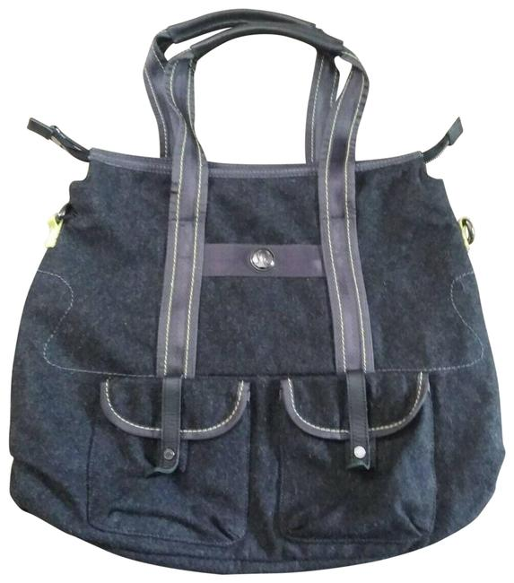 Item - Travel Charcoal Wool Shoulder Overnight Gym Tote E Gray Cross Body Bag