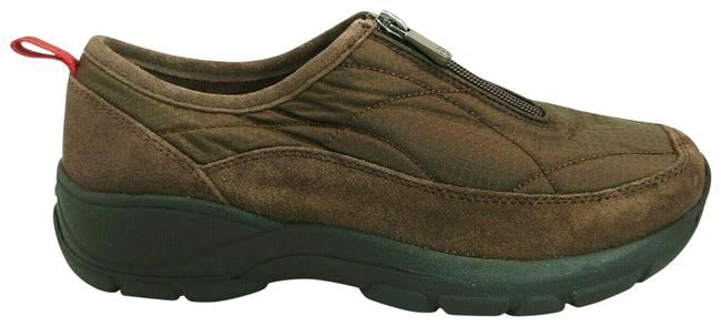 Item - Brown Womans All Weather Zip Front Flats Size US 7.5 Regular (M, B)
