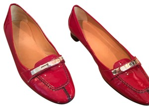 Hermès hermes red patent leather Flats