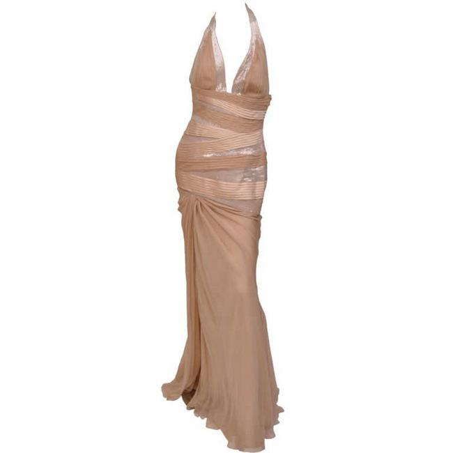 Item - Nude W F/W 2006 Look#55 Sequin Embellished Gown 42 --6 Long Night Out Dress Size 6 (S)