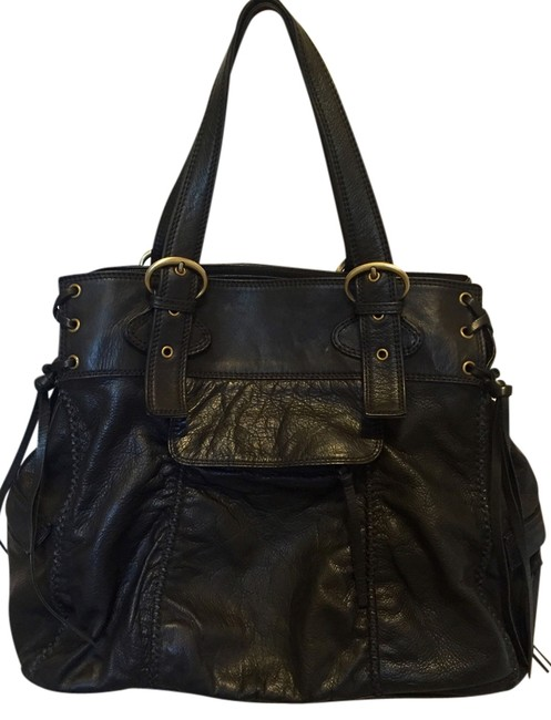Item - Vintage Whipstitch Leather Tote