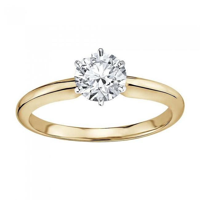 Item - 14k Yellow Gold 1.01 Carat Gia Certified Round Diamond Solitaire Engagement Ring