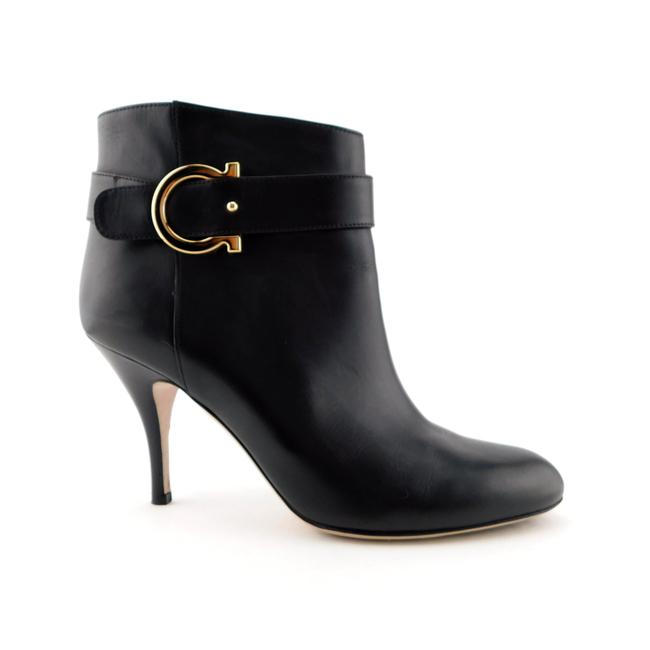 Item - Black Leather Signature Buckle Dress Ankle Boots/Booties Size US 8.5 Regular (M, B)