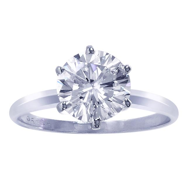 Item - 14k White Gold 2.00 Ct Gia Certified Round Diamond Solitaire Engagement Ring