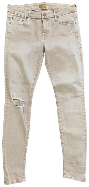Item - Tan Distressed The Looker Blow Out Skinny Jeans Size 8 (M, 29, 30)