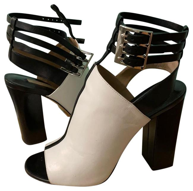 Item - Black and White Collection Heeled Sandals Size US 6.5 Regular (M, B)