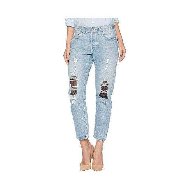 Item - Blue Medium Wash & Crafted 501 T Big E Selvedge Taper Cropped Straight Leg Jeans Size 29 (6, M)