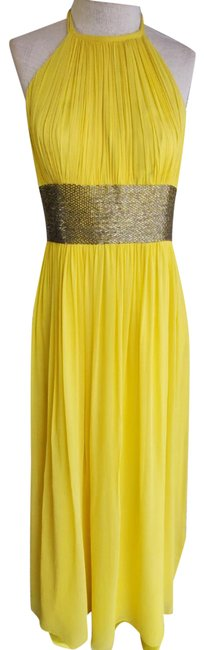 Item - Yellow Maxi Halter Long Night Out Dress Size 4 (S)