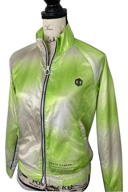Item - Green White Always On Recover Track Activewear Outerwear Size 0 (XS)