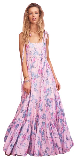 Item - Pink Burrows In Whispering Lilac Long Casual Maxi Dress Size 8 (M)