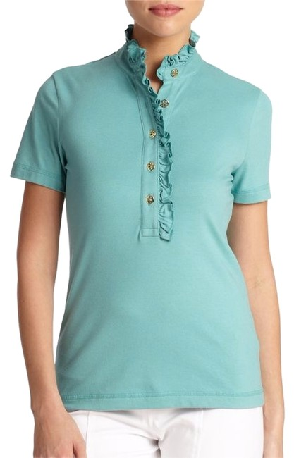Tory burch waterfront lidia polo button down shirt 17 for Tory burch button down shirt
