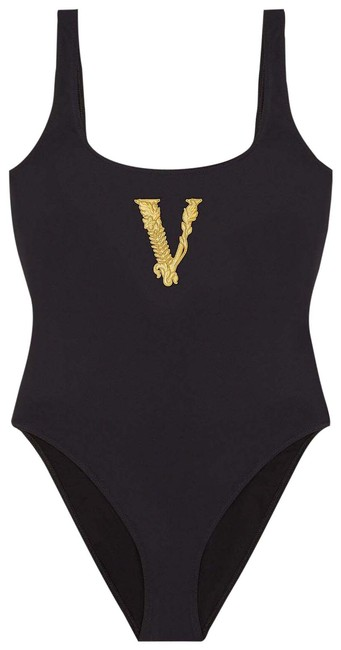 Item - Black Virtus Embroidered Swimsuit One-piece Bathing Suit Size 4 (S)