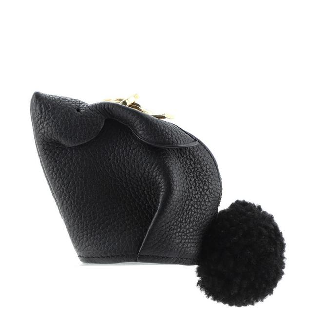 Item - Black Bunny Coin Purse Shearling and Leather Wallet