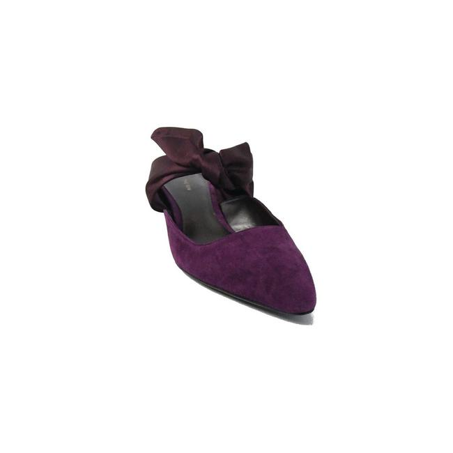 Item - Rose Coco Calfsuede Satin Lily Mules/Slides Size EU 37.5 (Approx. US 7.5) Regular (M, B)