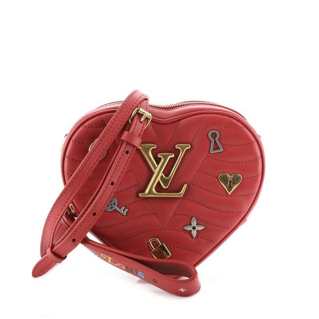 Item - New Wave Heart Limited Edition Love Lock Quilted Red Leather Cross Body Bag
