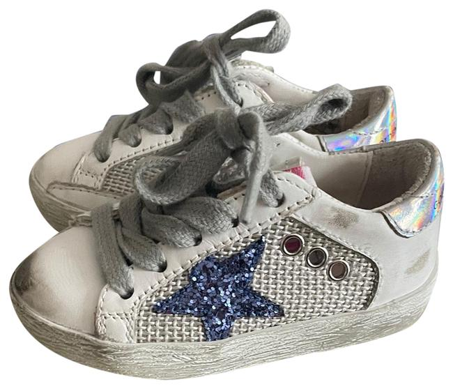 Item - Light Silver/ White Super Star Double Quarter with List Gjf001071/10481 Sneakers Size US 4 Wide (C, D)