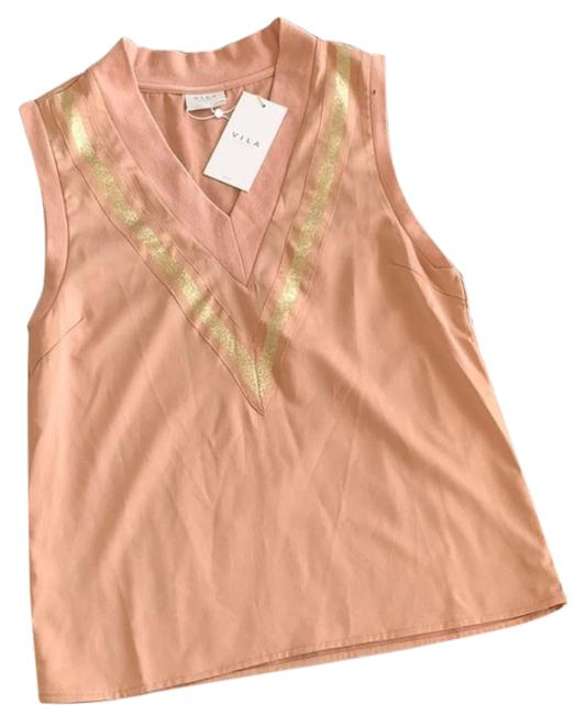 Item - Pink Gold Clothes V Neck New Tank Top/Cami Size 6 (S)