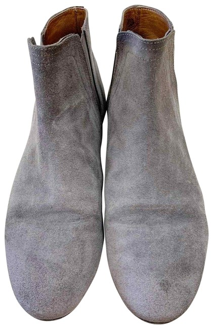 Item - Gray Suede Flat Chelsea Ankle Boots/Booties Size EU 39 (Approx. US 9) Regular (M, B)