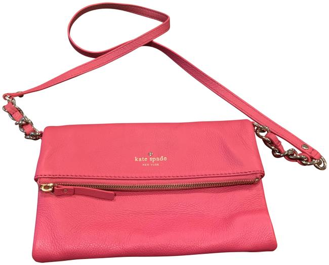 Item - Cobble Hill Krista Classic Hot Pink/Gold Leather Cross Body Bag