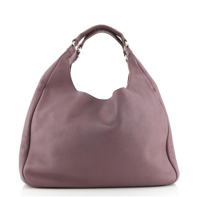 Item - Campana with Intrecciato Detail Large Purple Leather Hobo Bag