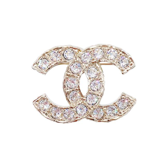 Item - Gold 21a Cc with Crystal Inlay Brooch Pin