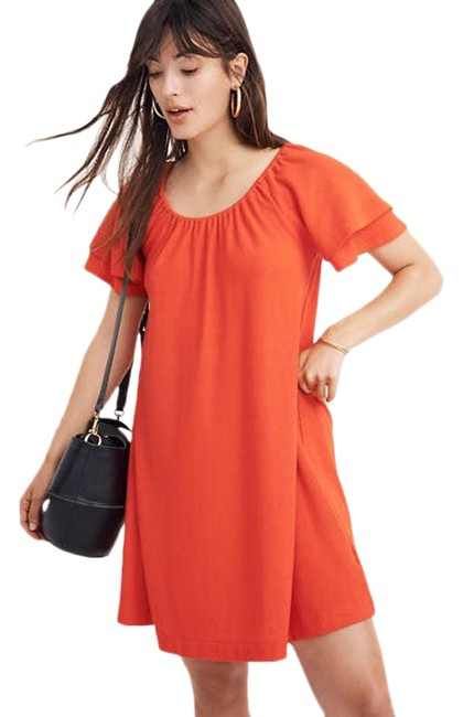 Item - Red Texture & Thread Tiered-sleeve Crepe Short Casual Dress Size 2 (XS)